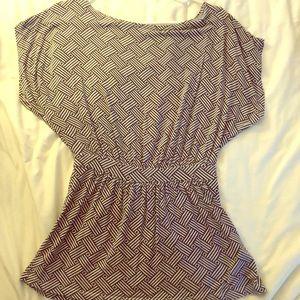 TART Flutter sleeve peplum jersey knit shirt